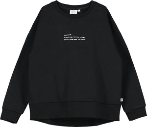 Black Text Sweater
