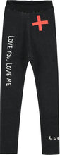 Black Love You Love Me Knitted Pants
