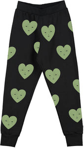 Black Heart Sweat Pants