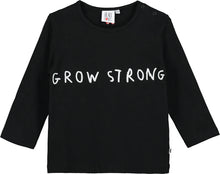 Black Grow Strong Baby Long Sleeved T Shirt