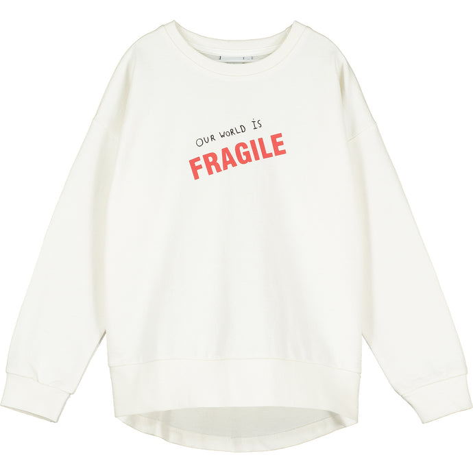 Natural Our World is Fragile Relaxed Fit Sweater