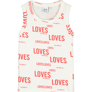 Natural Loves Loves Vest Top