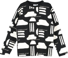 Black Rain Print Long Sleeve T Shirt