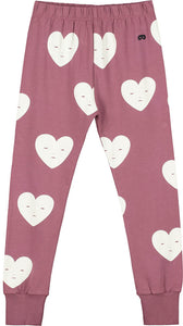 Grape Hearts Slim Pants