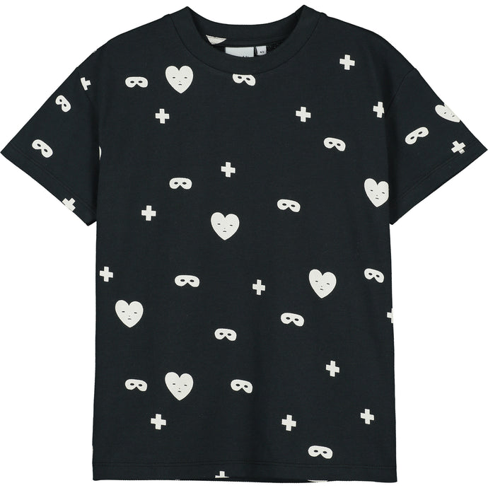 Black Hearts + Masks T-Shirt