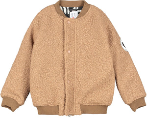 Sandstone Hero Mask Wool Bomber Jacket