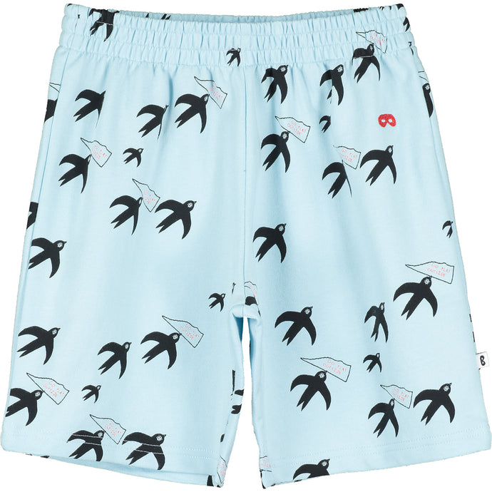 Sky Blue Birds Shorts