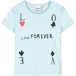 Sky Blue Love Forever Baby T-Shirt