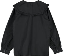 Black Follow Your Heart Wide Collar Top