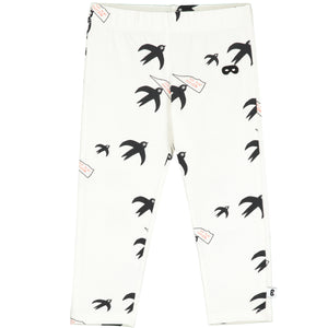 Natural Birds Baby Leggings