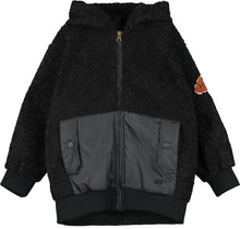 Black Technical Teddy Jacket