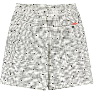 Natural Grid Shorts