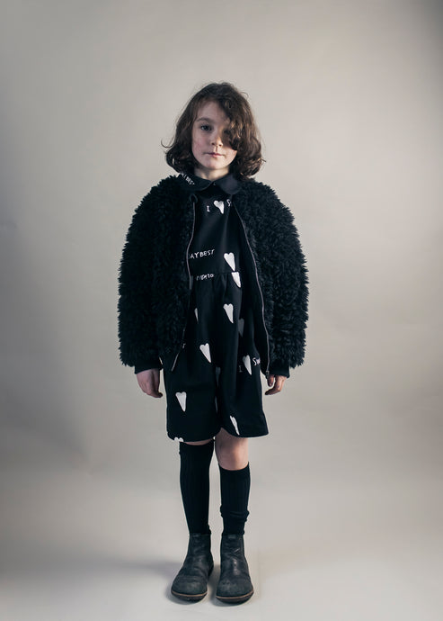 Furry Jacket, Black