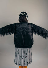 Bomber with fringed sleeves, Black, Hero Mask & X