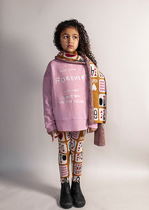 Relaxed Fit Sweater, Pink, Love Forever
