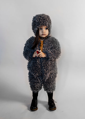 Baby Fur All-in-one, Quiet grey