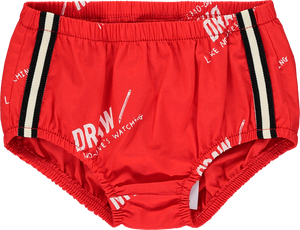 Baby Pants Red Draw