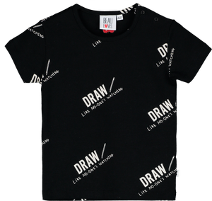 Baby T Shirt Draw Black