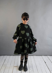 Black Hearts Oversized Dress