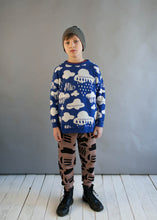 Blue Clouds Knitted Sweater