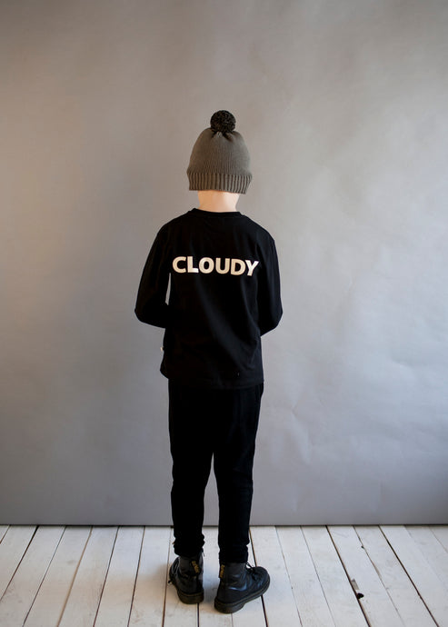 Black Cloudy Long Sleeve T Shirt