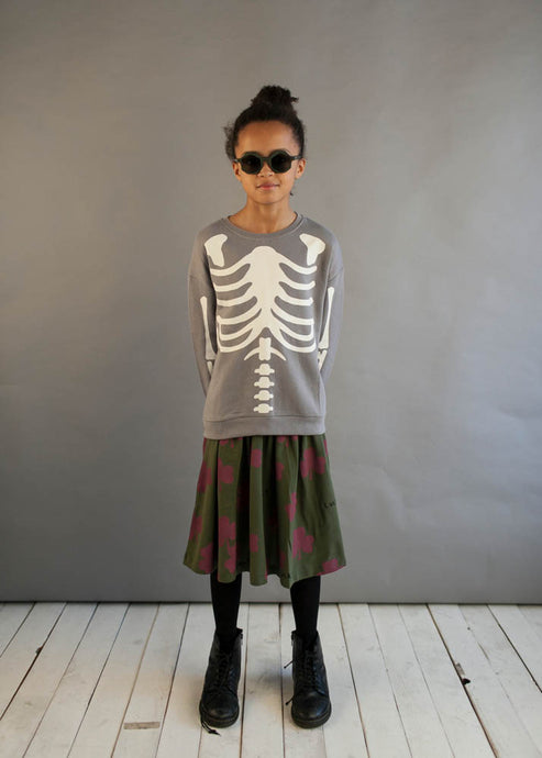 Washed Slate Skeleton Sweater
