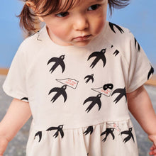 Natural Birds Baby Dress