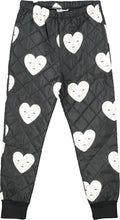 Black Padded Heart Pants