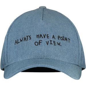 Washed Denim Point of View Cap
