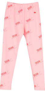 Leggings Pink Draw