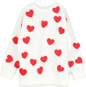 Relaxed Fit Sweater Hearts