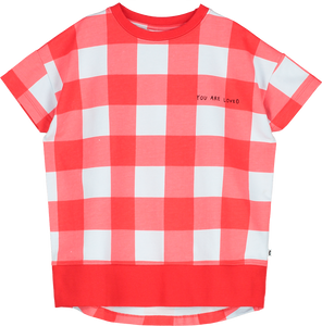 Short sleeve Sweater Gingham