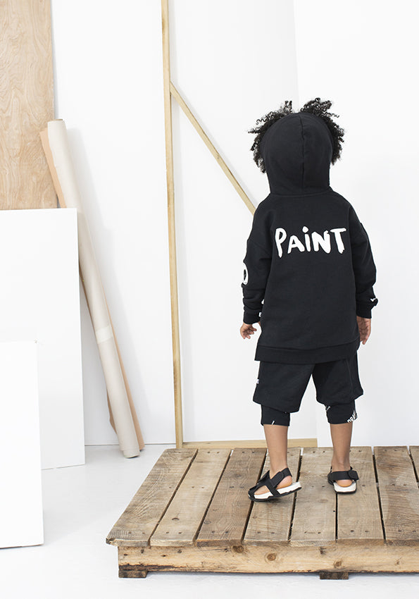 Zip Hooded Sweatshirt Paint