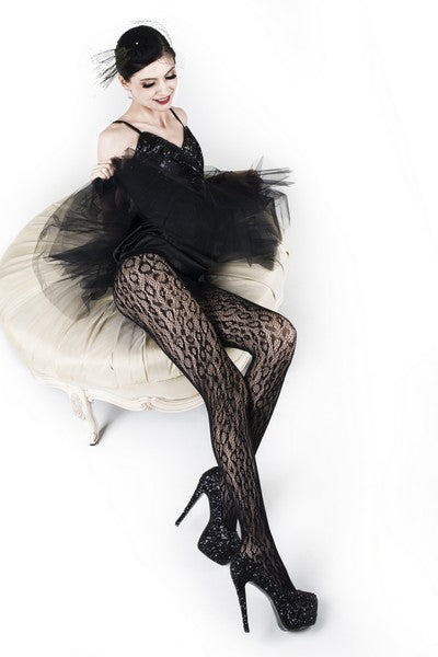 Wild Leopard Lady's Fishnet Tights