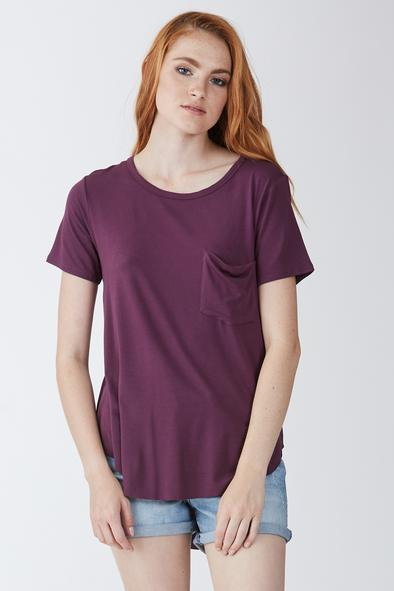 Another Love Sam Crew Neck Short Sleeve Tee Shirt orchid