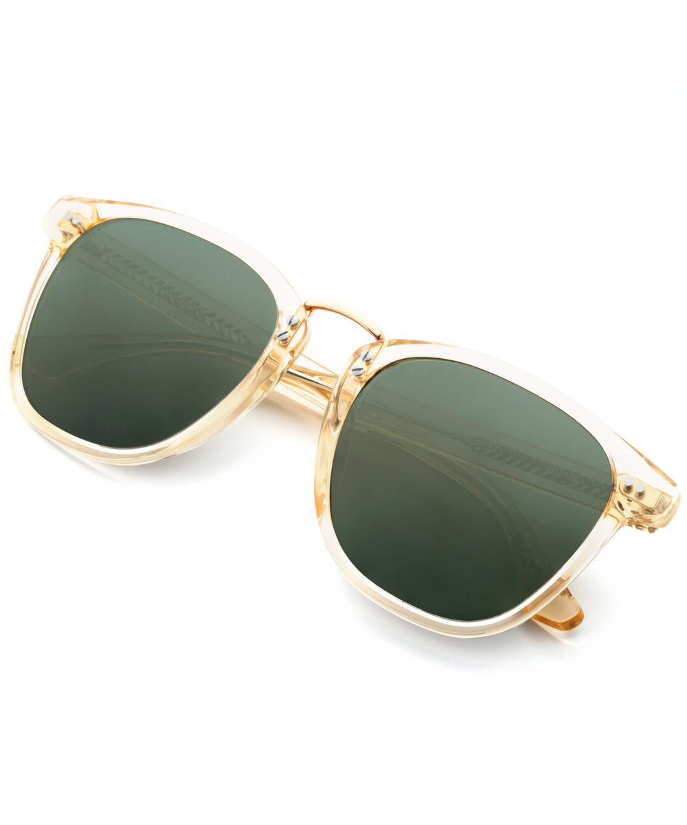 ADAMS | Champagne Polarized 24K - handcrafted acetate eyewear