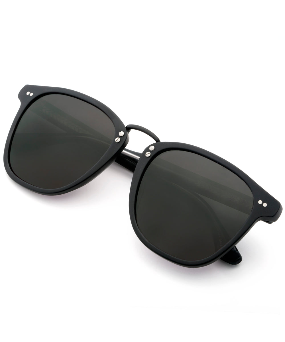 ADAMS | Matte Black - handcrafted acetate eyewear