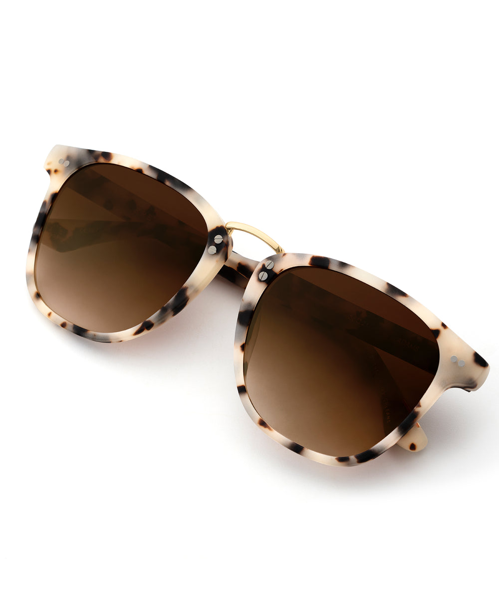 ADAMS | Matte Oyster 24K handcrafted acetate sunglasses