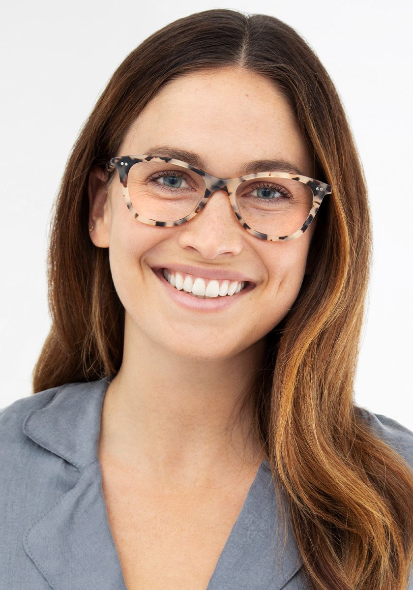 AMELIA | Matte Oyster Handcrafted, Acetate Frames