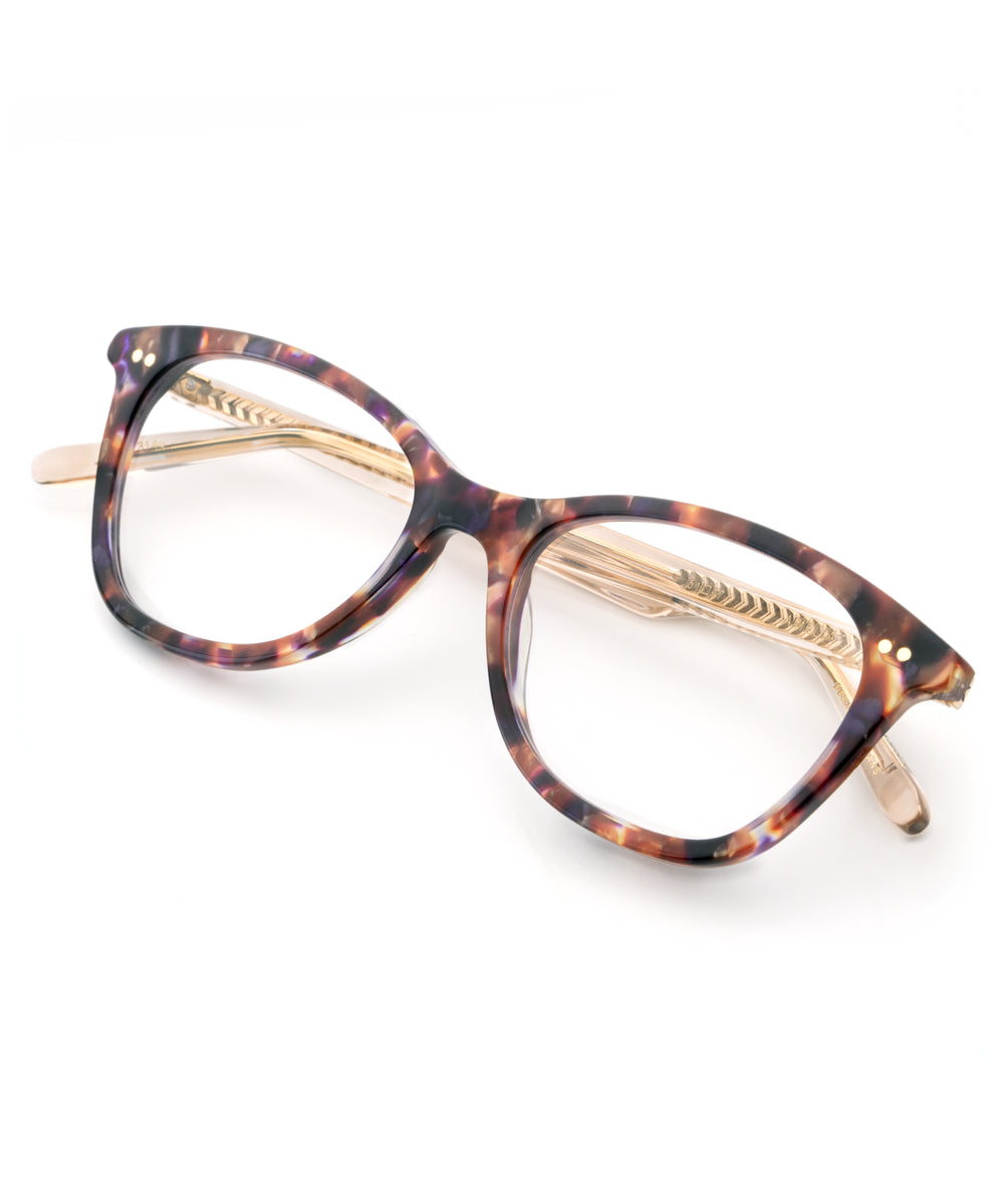 AMELIA | Stardust + Buff Handcrafted, Acetate Frames