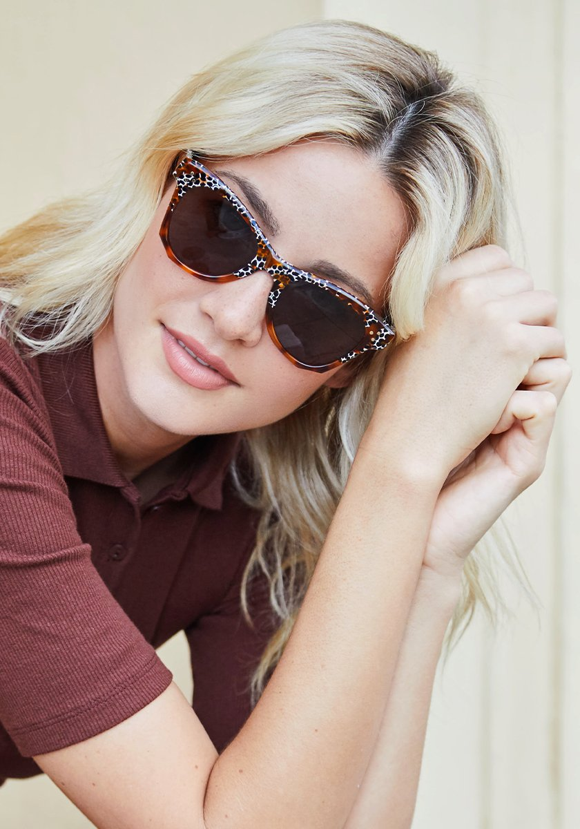 AUBRY | Memphis to Cognac Handcrafted, Acetate Sunglasses