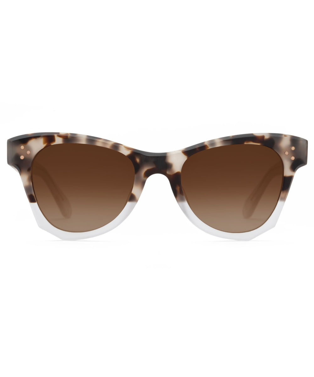 AUBRY | Matte Malt to Crystal Handcrafted, Acetate Sunglasses