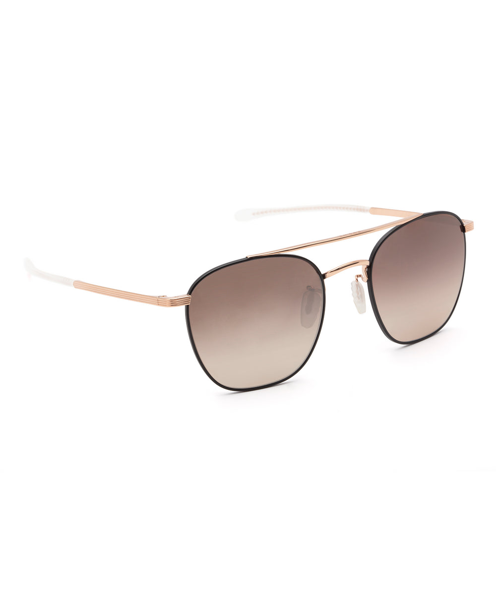 AUDUBON | Matte Black + Rose Gold Titanium Mirror Polarized