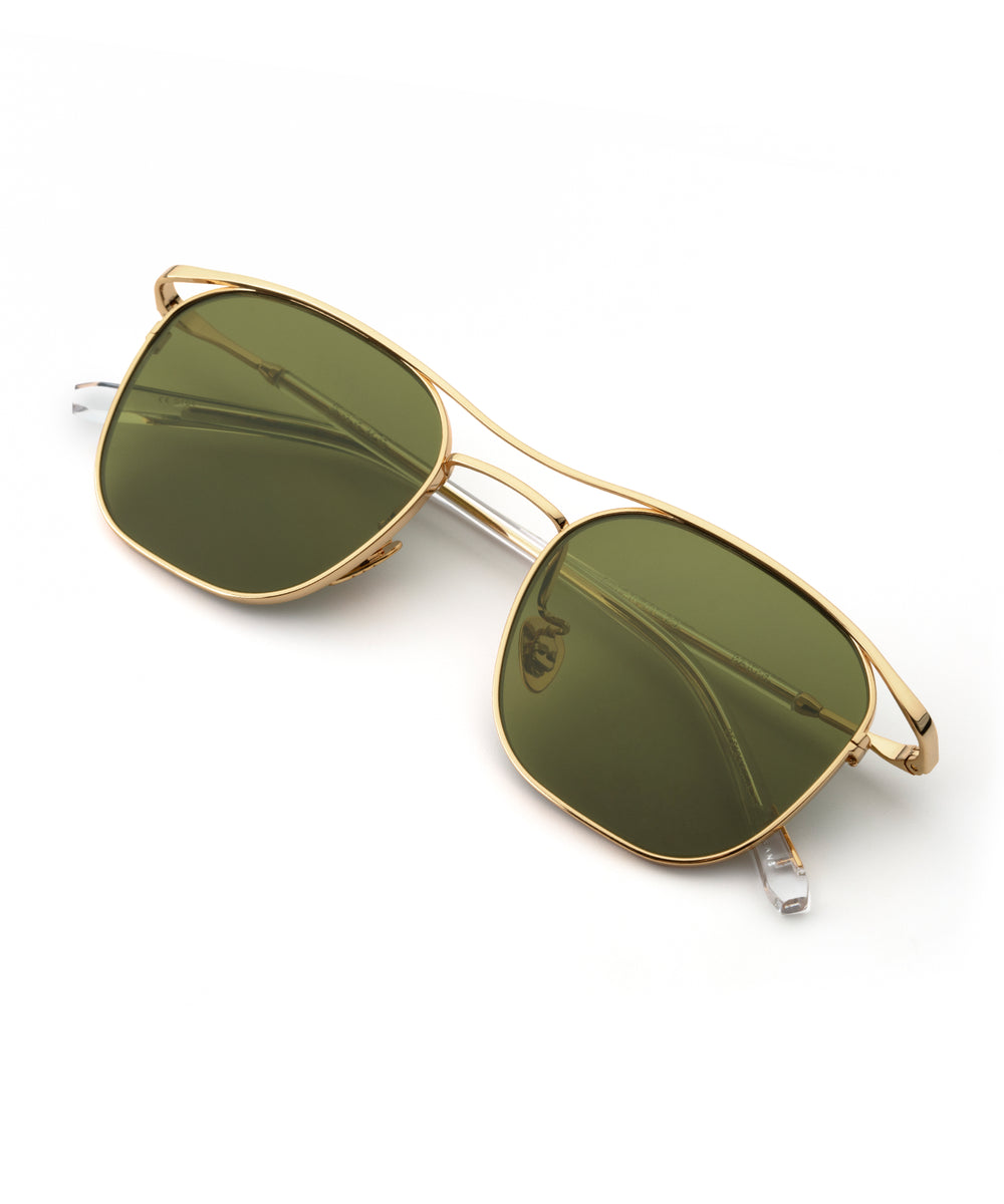 BAKER | 24K to Crystal Polarized Handcrafted, Titanium Sunglasses