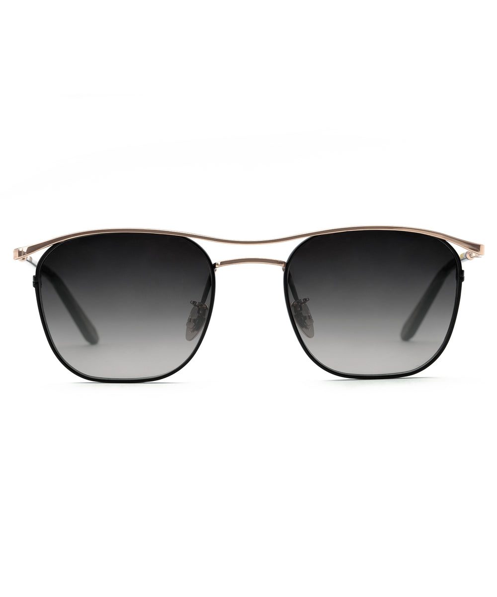 BAKER | Rose Gold + Matte Black to D'oro Handcrafted, Titanium Sunglasses