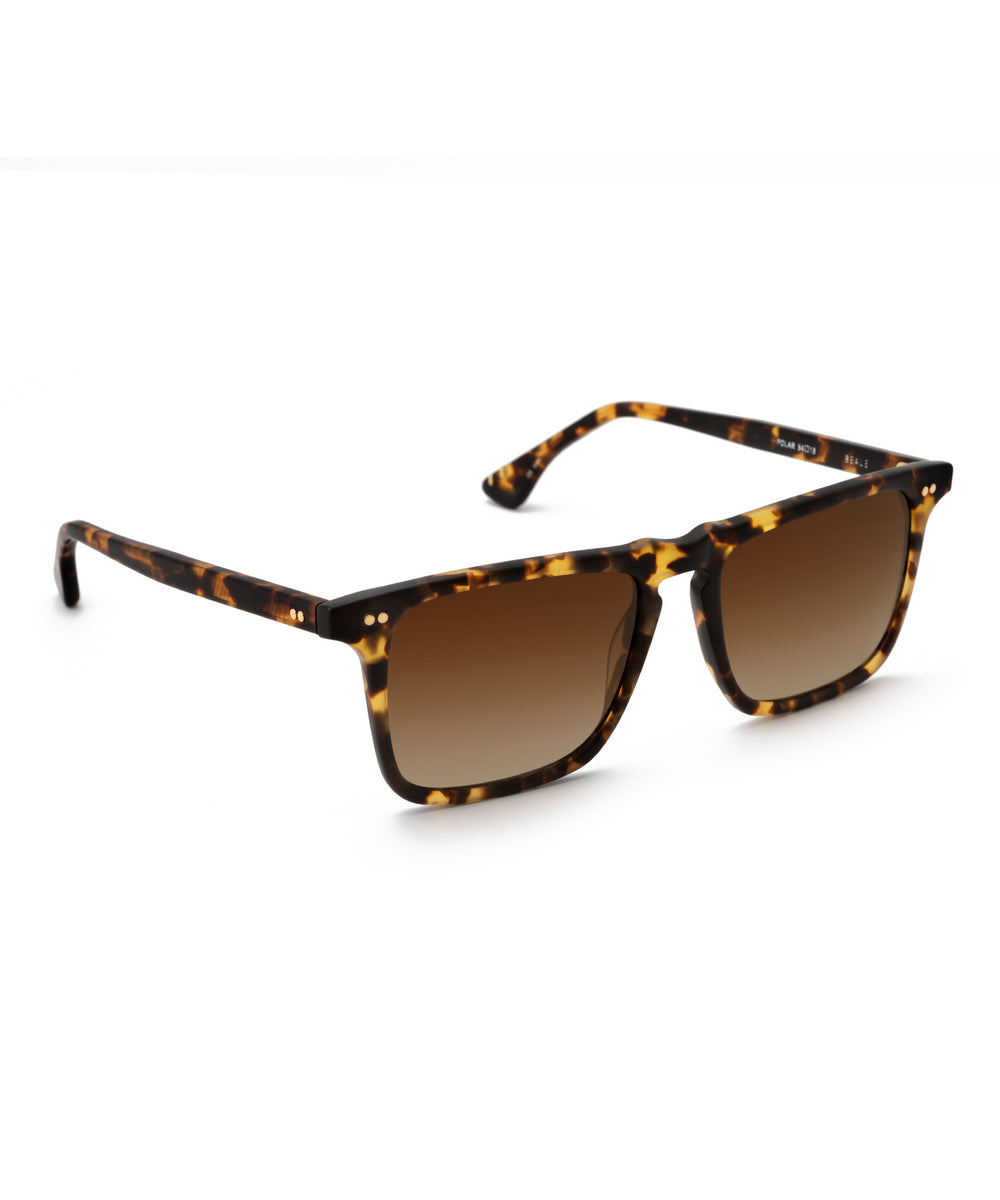 BEALE | Matte Bengal Polarized Handcrafted, Acetate Sunglasses