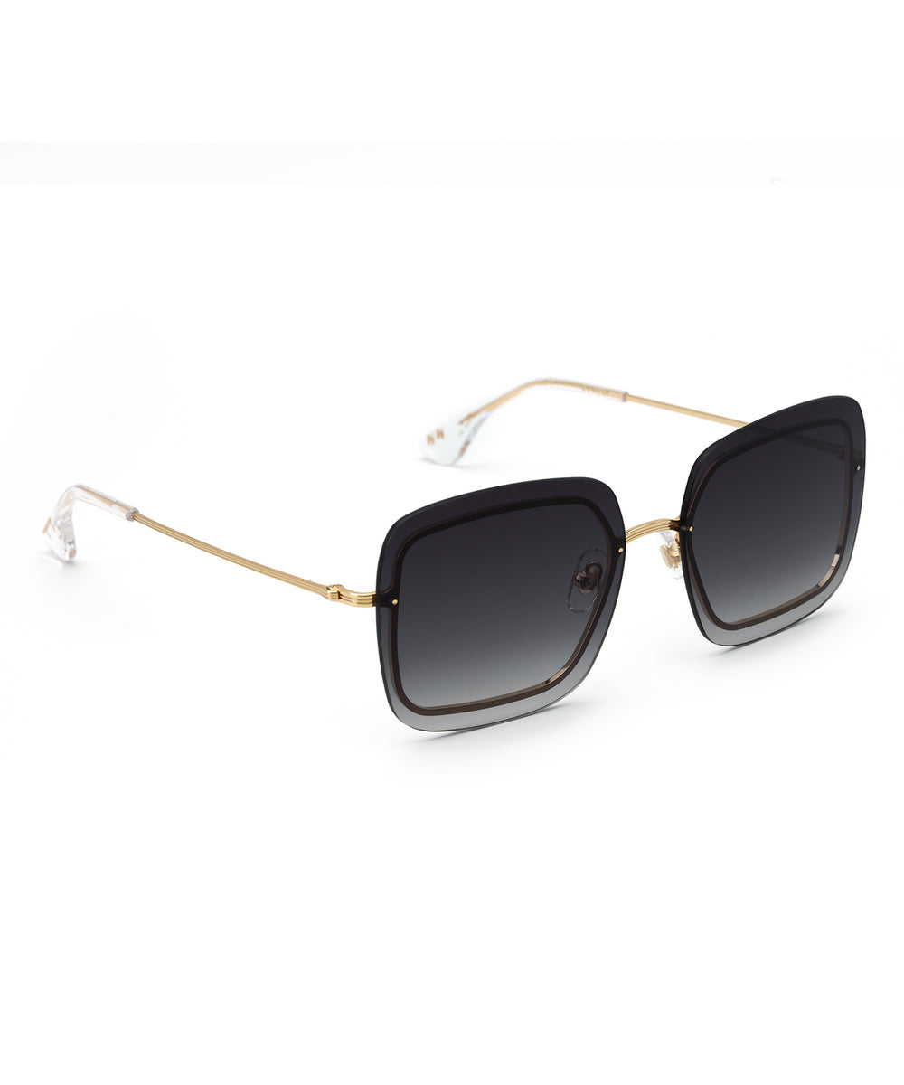 BLAIR | 18K + Crystal Handcrafted, Stainless Steel Sunglasses