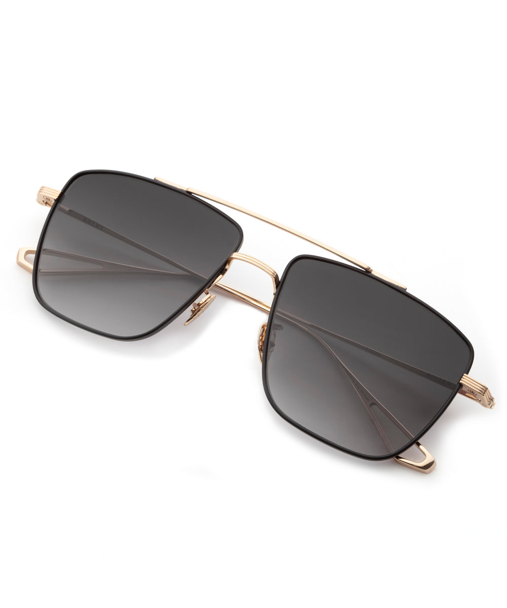 BOLDEN | 24K + Matte Black Handcrafted, Titanium Sunglasses