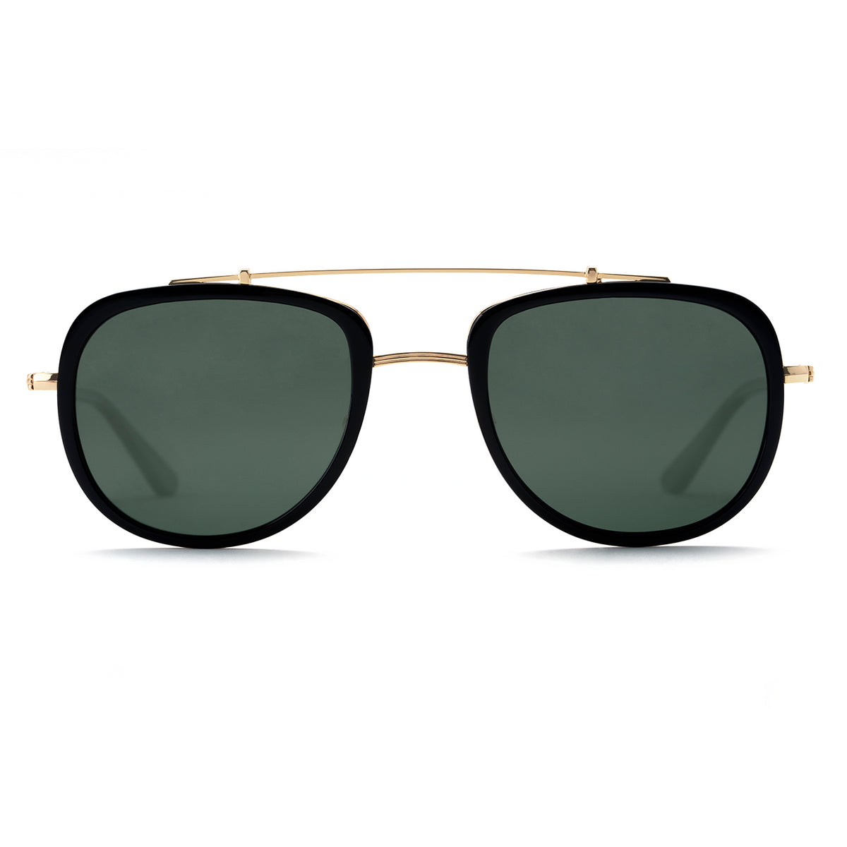 BRETON | Black Polarized 24K handcrafted acetate sunglasses