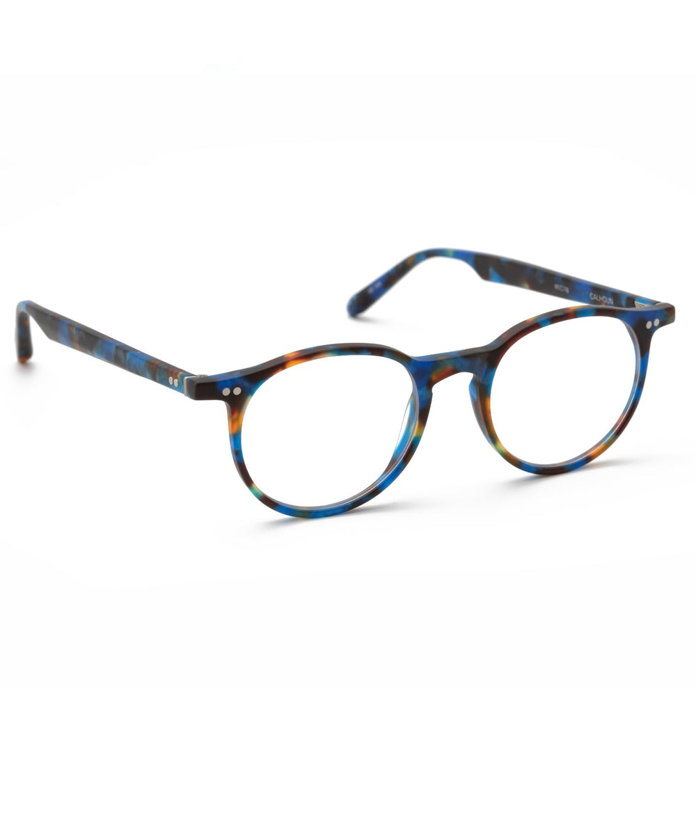 CARSON | Matte Blue Steel Handcrafted, Acetate Frames